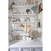 キッチン/スモークツリー/DIY/シャビーシック/インテリア雑貨...などのインテリア実例 - 2018-05-30 20:27:35