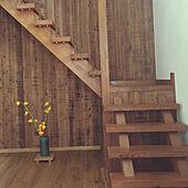 階段下スペース/木の壁/秋色インテリア/吹き抜け階段/玄関吹き抜け...などのインテリア実例 - 2021-10-19 08:16:42