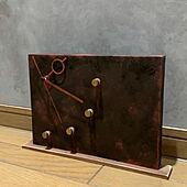 工作/ムーブメント/鉄板風/サビ風塗装/置き時計DIY...などのインテリア実例 - 2021-03-04 23:22:15