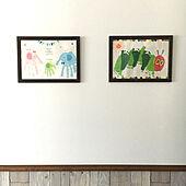 寝室の壁/手形足形アート/腰壁風/アートギャラリー/輸入住宅...などのインテリア実例 - 2020-10-30 00:57:45