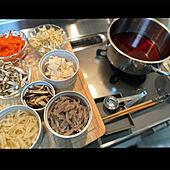 スリコ 菜箸/iwakiガラス容器/DEAN&DELUCA ココット/IKEAカッティングボード/キャセロール鍋...などのインテリア実例 - 2021-03-03 01:34:54