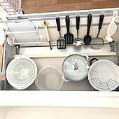 抗菌シート/ニトリ/菜箸収納/キッチン/美収納を目指します‼...などのインテリア実例 - 2021-03-03 14:20:38