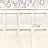 アクセントウォールDIY/アクセントウォール/洗面所/ランドリールーム/クラシックモダン...などのインテリア実例 - 2021-02-16 16:06:24
