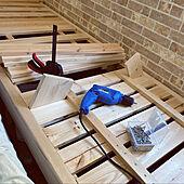 DIYベッド/木のある生活/DIY/SPF材/ベッド周りのインテリア実例 - 2020-04-09 13:39:44