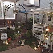 パーゴラDIY/ウッドフェンスDIY/ガーデンライト/ソーラーライト/アーチ...などのインテリア実例 - 2021-09-18 21:43:49