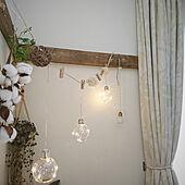 壁/天井/コレ、DIYしたよ!/鴨居風/電球ボトル/電球型LEDライト...などのインテリア実例 - 2020-05-06 10:19:13