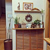 玄関/入り口/玄関/吹き抜けのある家/ラティス/植物のある暮らし...などのインテリア実例 - 2021-01-28 07:18:18