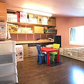遮光カーテン/IKEA/小屋裏収納/注文住宅/棚DIY...などのインテリア実例 - 2020-04-03 18:11:18