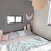 パンパスグラス/寝具/スィネリグ/IKEA照明/ベッドルームインテリア...などのインテリア実例 - 2020-09-27 21:56:12