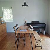 ダイニングテーブル/無垢の床/塗り壁/アイアンテーブル/照明...などのインテリア実例 - 2021-05-15 12:31:20
