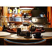 半円テーブル/サイフォン/コーヒーメーカー/日本家屋/築100年以上の平屋...などのインテリア実例 - 2020-09-27 20:14:47
