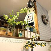 庭の花を生ける/モッコウバラ/麦/食卓に花を♡/オオデマリとコデマリの共演...などのインテリア実例 - 2021-04-17 15:42:50