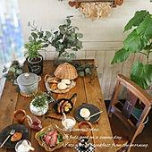 机/ダイニングテーブル/ナチュラルインテリア/カフェ風インテリア/器のある暮らし...などのインテリア実例 - 2021-06-07 22:02:49