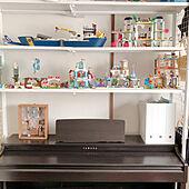 電子ピアノの上/電子ピアノ/LEGO/おもちゃ収納/収納...などのインテリア実例 - 2021-05-25 11:39:15