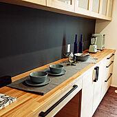 キッチン/カップボード/造作家具/タモ材家具のインテリア実例 - 2021-09-18 06:11:25