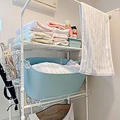 洗濯機周り/タオル収納/洗剤収納/洗濯機ラック/IKEA...などのインテリア実例 - 2021-05-04 19:55:14