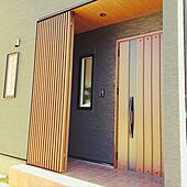 玄関ドア/木目天井/黒い外壁/LIXIL/楽しく暮らす...などのインテリア実例 - 2021-02-06 15:16:54