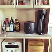 キッチン棚/炊飯器置き場/炊飯器/ドリンクメイト/糖質カット炊飯器...などのインテリア実例 - 2021-09-19 16:07:51