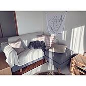 無印良品/IKEA/ファブリックポスター/マンション暮らし/横長リビングダイニング...などのインテリア実例 - 2021-04-19 17:24:59