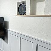 石膏ボードに下地補強DIY/壁掛けTV DIY/壁掛けTV/BoardandBatten Wall/Board&Batten...などのインテリア実例 - 2021-06-06 14:35:32