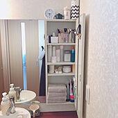 取り出しやすい/見やすく整理/清潔感のある洗面室/シンプルに暮らしたい/2021.2.23 Tue☀️...などのインテリア実例 - 2021-02-23 11:27:20