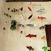 鯉のぼり/足場板古材/パレットリメイク/アンティーク/ハンドメイド...などのインテリア実例 - 2020-03-31 14:49:12