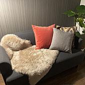 クッション/IKEA/一人暮らし/無印良品/部屋全体のインテリア実例 - 2021-03-08 22:56:03