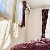 西日の射す部屋/ベッドカバー/カーテン/窓/モノトーン...などのインテリア実例 - 2021-01-20 15:18:03