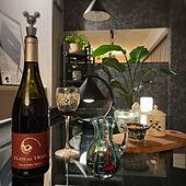 ガラスのテーブル/カラフェ/ヴェネチアングラス/ワイン好き/植物のある暮らし...などのインテリア実例 - 2021-09-11 20:20:59