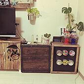 DIY/ディスプレイコーナー/観葉植物/ステンシル/リビングのインテリア実例 - 2020-04-05 22:09:08