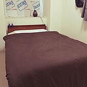 ベッド周り/アートカーテン/三十路男/一人暮らし/単身赴任...などのインテリア実例 - 2020-10-24 10:10:33