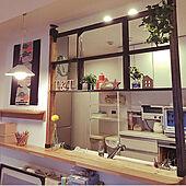 飾り棚 キッチン/飾り棚/キッチンカウンターの上/キッチン/間接照明...などのインテリア実例 - 2021-06-13 08:51:54