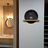 玄関/入り口/丸ニッチ/IKEA/観葉植物のインテリア実例 - 2021-05-17 13:12:50
