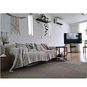 部屋全体/収納スペース/山善/ナチュラル素材/植物のある暮らし...などのインテリア実例 - 2021-07-27 20:24:19
