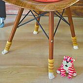 猫足/椅子の靴下/ニトリ/おうち時間を楽しむ/棚...などのインテリア実例 - 2021-05-07 10:07:26