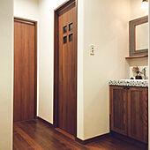 導線/導線を考えた家/タイル/玄関入ってすぐ手洗い場/玄関入ってすぐ手洗い...などのインテリア実例 - 2021-09-29 00:25:06