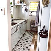 マリメッコのカフェカーテン/IKEAのワゴン/マリメッコ/できるだけスッキリ/ホワイトキッチン...などのインテリア実例 - 2019-08-17 22:22:15