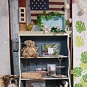 リビング/青い棚/#私の時間/手作り雑貨/手作りの棚...などのインテリア実例 - 2021-07-04 00:30:07