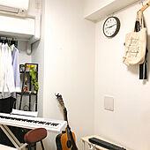 電子ピアノ/ギター/一人暮らし/シンプル/ナチュラル...などのインテリア実例 - 2020-04-09 21:17:43