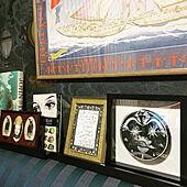 エルメスのスカーフ額装/松下さちこ/アートをインテリアに取り入れたい/アート系ミックススタイル/アンティーク...などのインテリア実例 - 2020-09-23 07:52:51