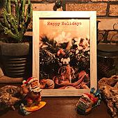 サボテン/クリスマスフレーム/サンタクロース/クリスマス/インダストリアル...などのインテリア実例 - 2020-11-22 19:38:39