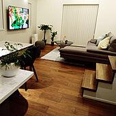 部屋全体/フランフランのテーブル/グレーソファー/フランフランカーペット/ブラウン床...などのインテリア実例 - 2021-06-13 22:03:52