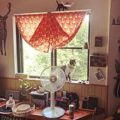 サーキュレーターは、お預け/今年も扇風機、よろしく/窓辺の猫/ねこのいる風景/白キジのん...などのインテリア実例 - 2021-07-27 17:28:32