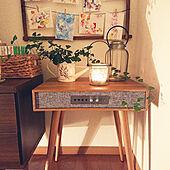 机/スピーカーテーブル/観葉植物/緑のある暮らし/一人暮らし...などのインテリア実例 - 2021-01-27 23:01:45