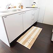 台所/キッチンマットを敷いてみた/キッチンマット/ねこ部/ネコ好き...などのインテリア実例 - 2020-09-15 12:00:16