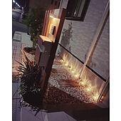 玄関アプローチ/ライトアップ/eくらしプロジェクト/山善ガーデンライト/山善くらしのeショップ...などのインテリア実例 - 2021-09-18 09:35:56