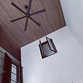 壁/天井/シーリングファン/木目調壁紙のインテリア実例 - 2021-05-08 06:25:22