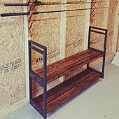 棚/ハンドメイド/DIY/2×4/釣り部屋...などのインテリア実例 - 2021-03-02 17:34:00