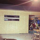 満足感/ガレージライフ/ガレージの壁/貰い物サッシ/DIY...などのインテリア実例 - 2021-09-21 20:02:48