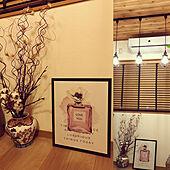 花瓶は和風/絵のある暮らし/ニトリ/見てくださってありがとうございます♡/間接照明...などのインテリア実例 - 2020-10-28 17:22:29